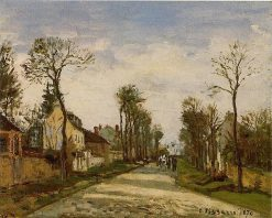 The Road to Versailles at Louveciennes 1870 | Camille Pissarro | oil painting