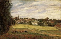 View of Marly le Roi 1870 | Camille Pissarro | oil painting