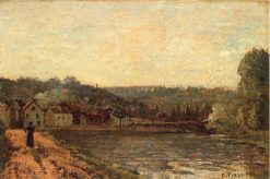The Banks of the Seine at Bougival 1871 | Camille Pissarro | oil painting