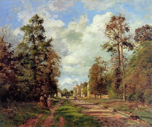 The Road to Louveciennes at the Outskirts of the Forest 1871 | Camille Pissarro | oil painting