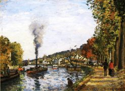 The Seine at Marly 1871 | Camille Pissarro | oil painting