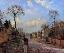 A Road in Louveciennes 1872 | Camille Pissarro | oil painting