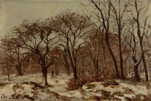 Chestnut Orchard in Winter 1872 | Camille Pissarro | oil painting
