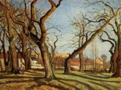 Chestnut Trees at Louveciennes 1872 | Camille Pissarro | oil painting