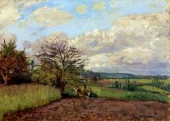 Landscape with a Cowherd 1872 | Camille Pissarro | oil painting