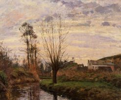 Landscape with Small Stream 1872 | Camille Pissarro | oil painting