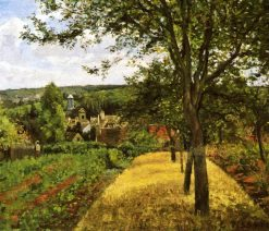 Orchards at Louveciennes 1872 | Camille Pissarro | oil painting