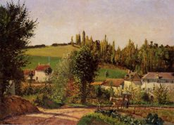 Path of Hermitage at Pontoise 1872 | Camille Pissarro | oil painting