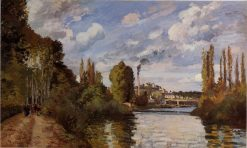 Riverbanks in Pontoise 1872 | Camille Pissarro | oil painting