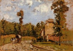 Road in Port Maryl 1872 | Camille Pissarro | oil painting