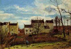 Spring at Pontoise 1872 | Camille Pissarro | oil painting