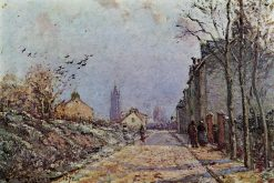 Street Snow Effect 1872 | Camille Pissarro | oil painting
