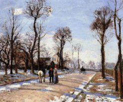 Street Winter Sunlight and Snow 1872 | Camille Pissarro | oil painting