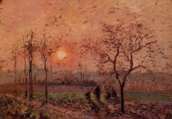 Sunset 1872 | Camille Pissarro | oil painting