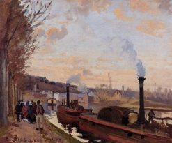 The Seine at Port Marly 1872 | Camille Pissarro | oil painting