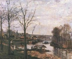 Wash House at Bougival 1872 | Camille Pissarro | oil painting