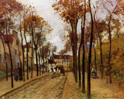 Boulevard des Fosses. Pontoise 1872 | Camille Pissarro | oil painting