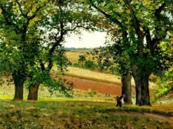 Chestnut Trees at Osny 1873 | Camille Pissarro | oil painting