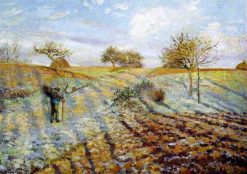 Hoarfrost 1873   Camille Pissarro   oil painting
