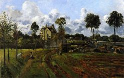 Landscape at Pontoise 1873 | Camille Pissarro | oil painting