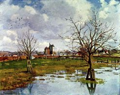 Landscape with Flooded Fields 1873 | Camille Pissarro | oil painting