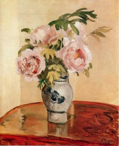 Pink Peonies 1873 | Camille Pissarro | oil painting