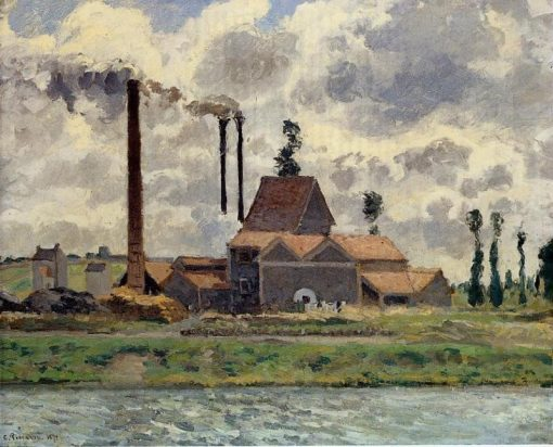 The Factory 1873 | Camille Pissarro | oil painting