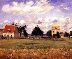 The Red House 1873 | Camille Pissarro | oil painting