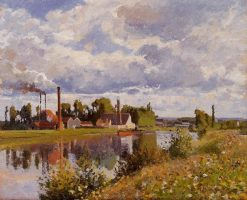 The River Oise near Pontoise 1873 | Camille Pissarro | oil painting