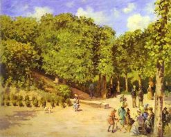 Town Garden in Pontoise 1873 | Camille Pissarro | oil painting
