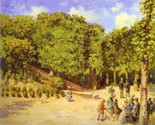 Town Garden in Pontoise 1873 | Camille Pissarro | oil painting