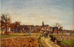 View of Pontoise 1873 | Camille Pissarro | oil painting