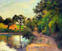 Bridge at Montfoucault 1874 | Camille Pissarro | oil painting