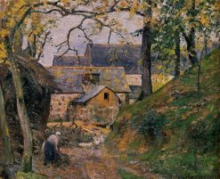 Farm at Montfoucault 1874 | Camille Pissarro | oil painting