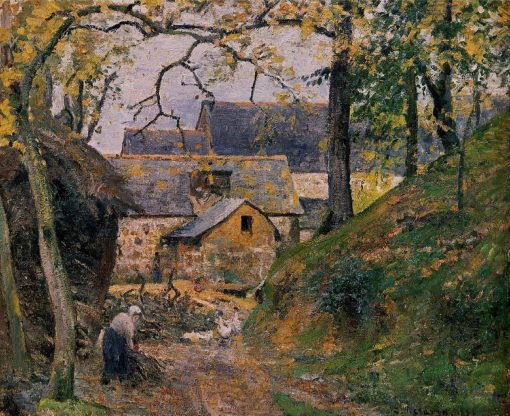 Farm at Montfoucault 1874 | Camille Pissarro | oil painting
