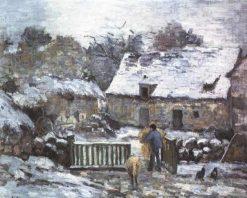 Farm at Montfoucault 2 1874 | Camille Pissarro | oil painting