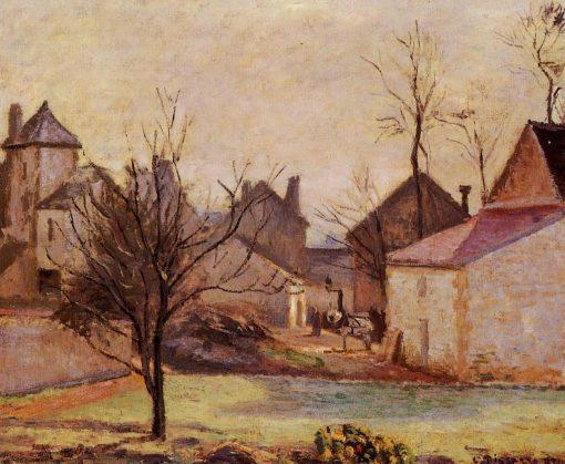 Farmyard in Pontoise 1874 | Camille Pissarro | oil painting