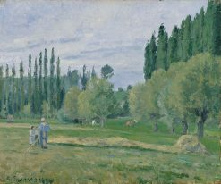 Haymaking 1874 | Camille Pissarro | oil painting