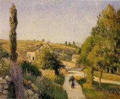 Landscape at l'Hermitage 1874 | Camille Pissarro | oil painting