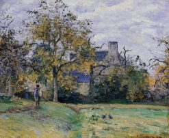 Piette's Home on Montfoucault 1874 | Camille Pissarro | oil painting