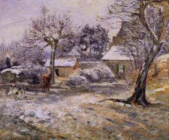 Snow at Montfoucault 1874 | Camille Pissarro | oil painting