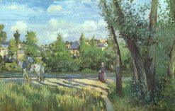 Sunlight on the Road Pontoise 1874 | Camille Pissarro | oil painting