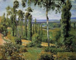 The Countryside in the Vicinity of Conflans Saint Honorine 1874 | Camille Pissarro | oil painting