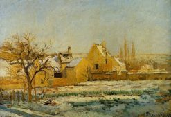The Effect of Snow at Hermitage 1874 | Camille Pissarro | oil painting