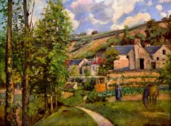 The Hermitage at Pontoise 1874 | Camille Pissarro | oil painting