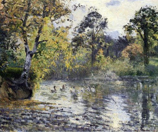 The Pond at Montfoucault 1874 | Camille Pissarro | oil painting
