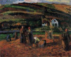 The Potato Harvest 1874 | Camille Pissarro | oil painting