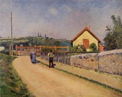 The Railroad Crossing at Les Patis 1873 - 1874 | Camille Pissarro | oil painting