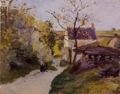 The Large Walnut Tree at Hermitage 1875 | Camille Pissarro | oil painting