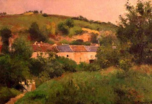The Path in the Village 1875 | Camille Pissarro | oil painting